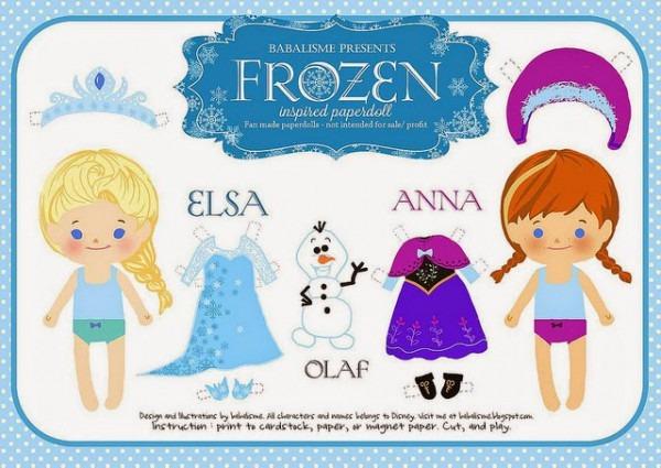 Ana Y Elsa De Frozen Bebés  Muñecas Recortables Para Imprimir