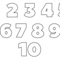 Numeros 1 Al 10 Para Colorear