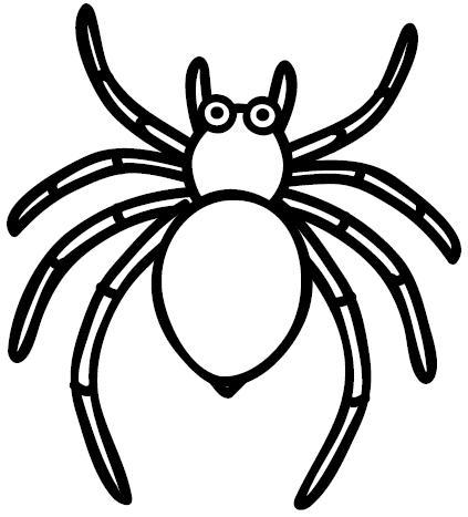 La Araña Para Colorear