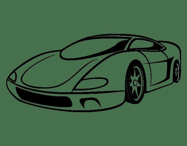 Dibujo De Automóvil Deportivo Para Colorear
