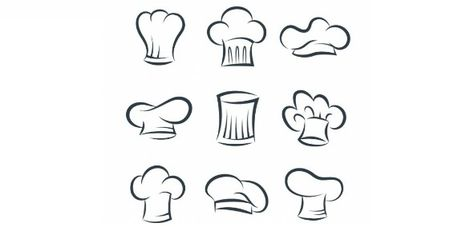 Dibujos De Los Distintos Gorros De Cocinero
