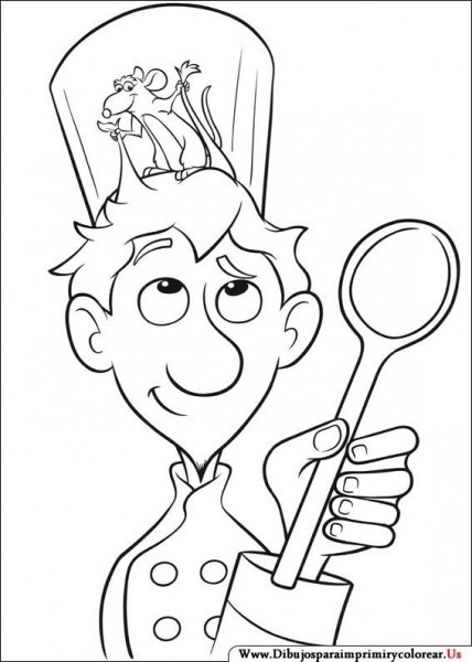 Dibujos De Ratatouille Para Imprimir Y Colorear