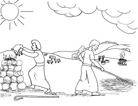 Actividades Para Colorear De Caín Y Abel