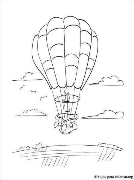 Dibujo De Globo Aerostatico Para Colorear