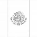 Escudo Bandera De Mexico Para Colorear