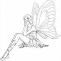 Barbie Mariposa Para Colorear