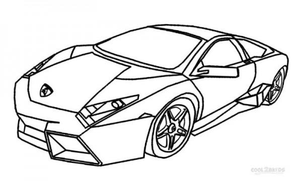 Online Lamborghini Coloring Pages