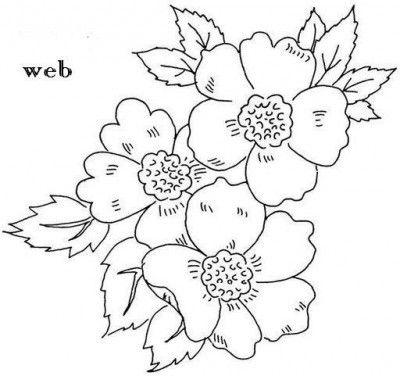 Moldes De Flores Para Pintar En Tela