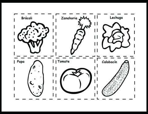 Paginas Para Colorear Alimentos Para Para Y On Para Dibujos Para
