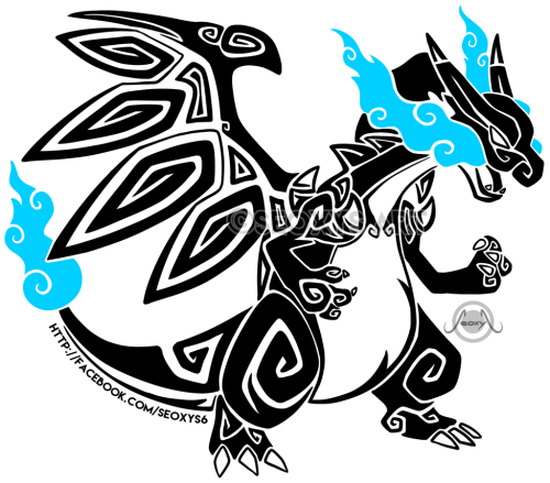 Tribal Mega Charizard X By Seoxys6