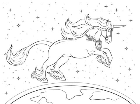 Dibujo De Bonito Unicornio Para Colorear