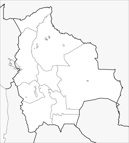 Dibujo De Mapa De Bolivia Para Colorear