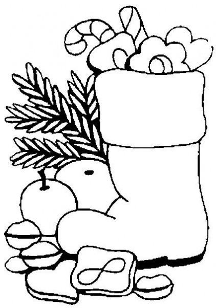Botas De Navidad Para Colorear