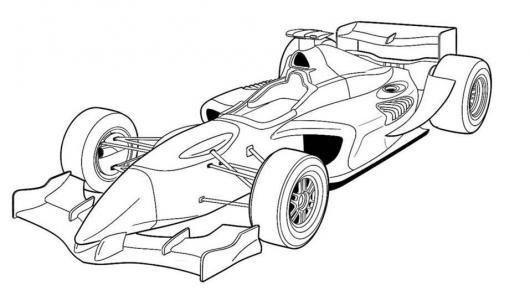 Formula 1 Dibujos Para Colorear