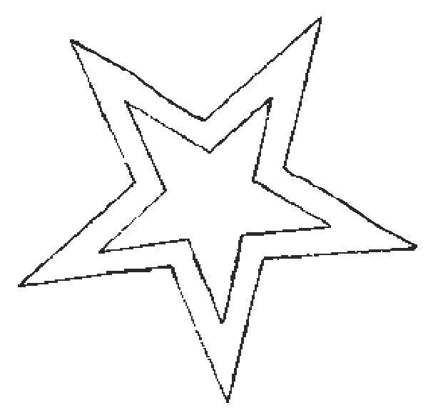 Resultado De Imagen Para Moldes De Estrellas Redondeadas Grandes