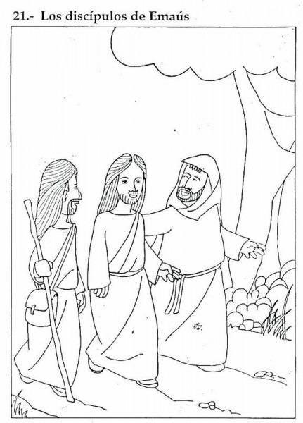 Pinto Dibujos  Los Discípulos De Emaús – Dibujos Para Colorear