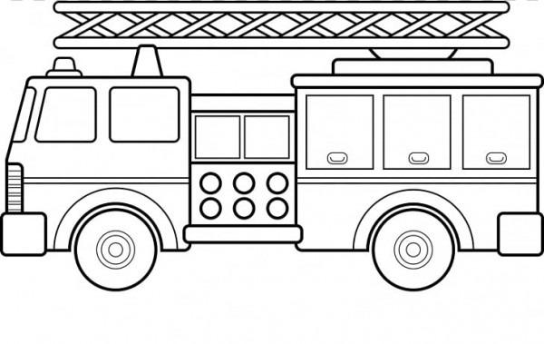 Camión De Bomberos Para Colorear Camión De Bomberos, Carro De