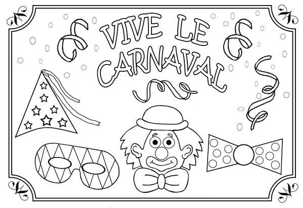 Dibujos De Carnaval Para Colorear Y Imprimir