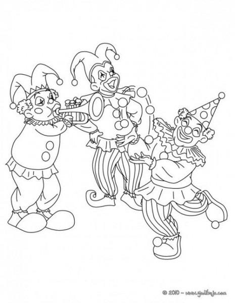 Payasos Y Arlequines De Carnaval Para Pintar