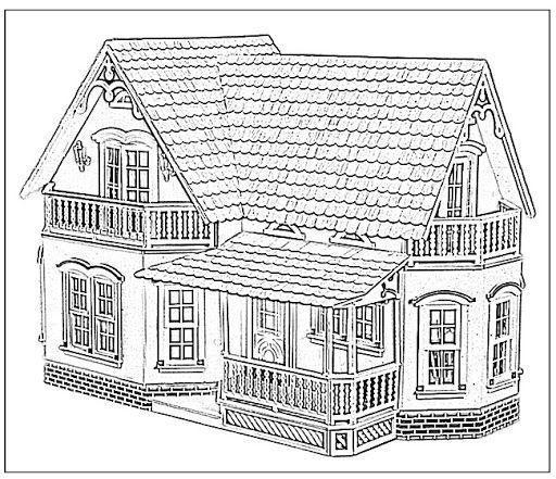 Casas De Muñecas Para Pintar