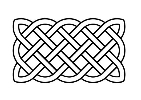 Dibujo De Nudo Celta Básico Rectangular Para Colorear