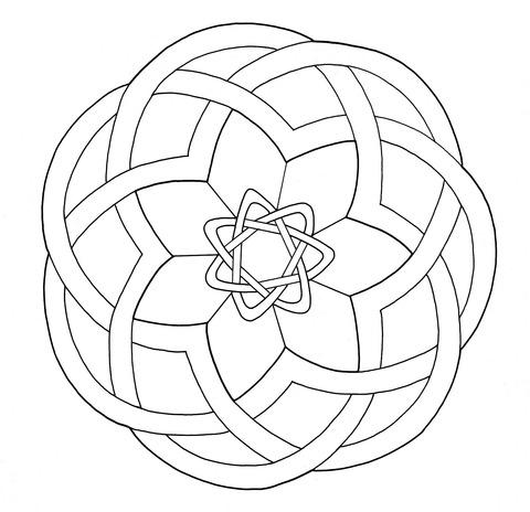 Dibujo De Diseño Nudos Celtas Para Colorear