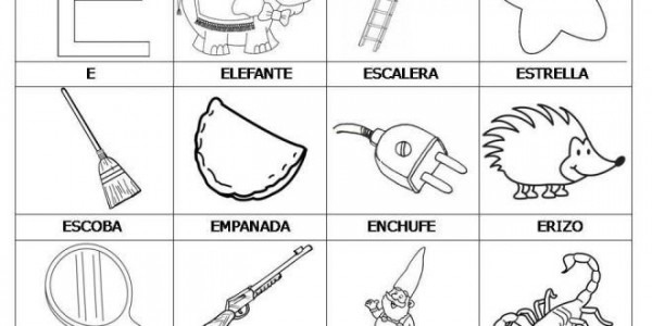 Dibujos Para Pintar Que Empiecen Con La Letra E