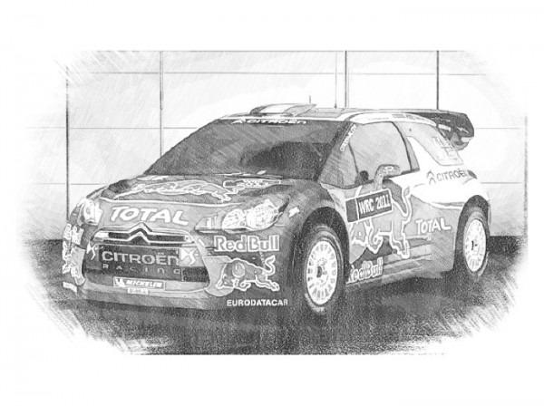 Dibujo Para Colorear Coches Citroen   Rallye Ds3 Sebastien Loeb 10