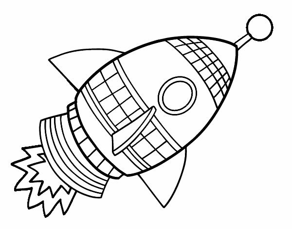 Dibujo De Cohete Espacial Pintado Por En Dibujos Net El Día 21