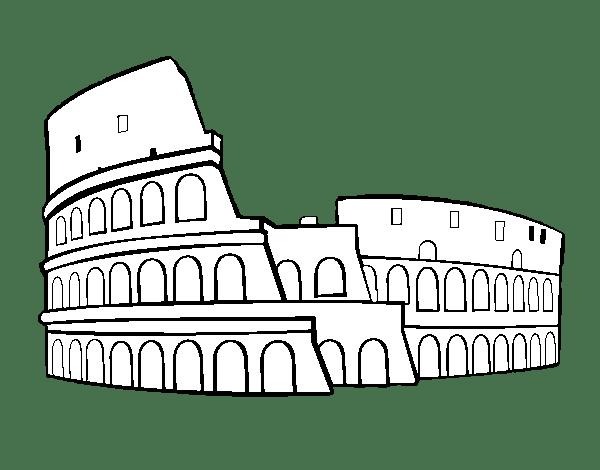 Dibujo De Coliseo Romano Para Colorear