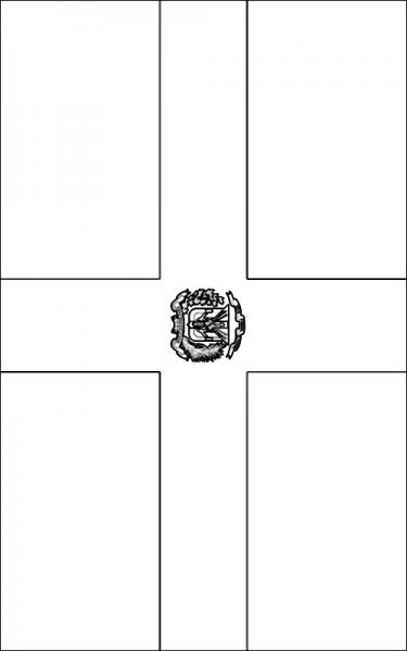 La Bandera Dominicana Para Colorear