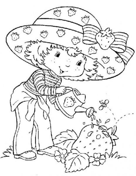 Dibujo De Rosita Fresita En El Jardín Para Colorear  Dibujos
