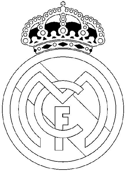 Dibujo Para Colorear Futbol   Real Madrid 24
