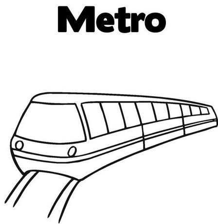 為孩子們的著色頁  Metro