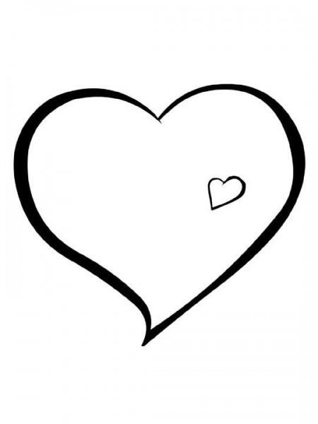 Dibujo Para Colorear Corazón  Descargar O Imprimir Gratis