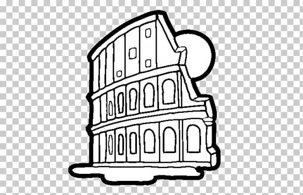 Dibujos Para Colorear De Roma Antigua Del Coliseo, Coliseo Romano