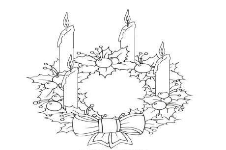 Lllᐅ Dibujos De Corona De Adviento【+tutorial】el Mitico Adorno ⊛