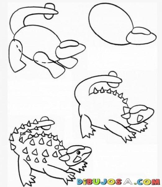 Como Aprender A Dibujar Un Donosaurio Por Pasos Para Pintar Y