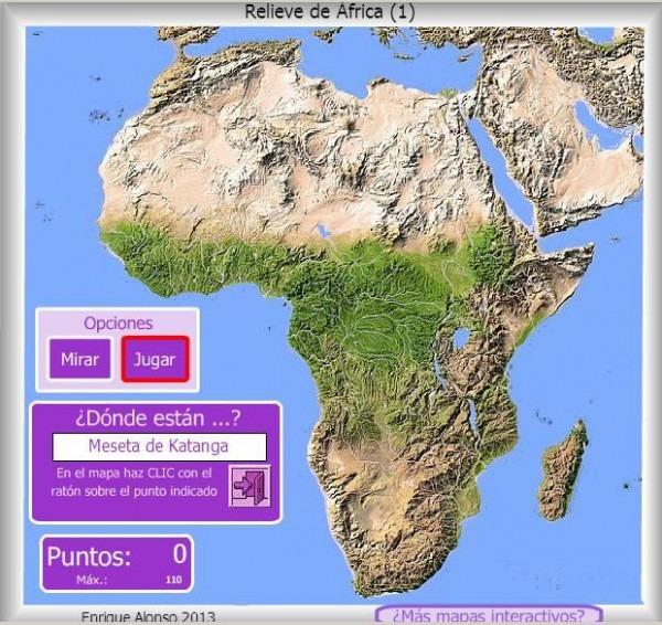 Mapa Interactivo De África Relieve De África  ¿dónde Está