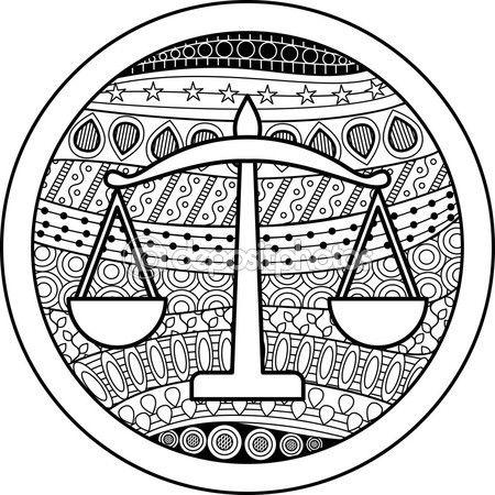 Libra Signo Del Zodiaco — Vector De Stock