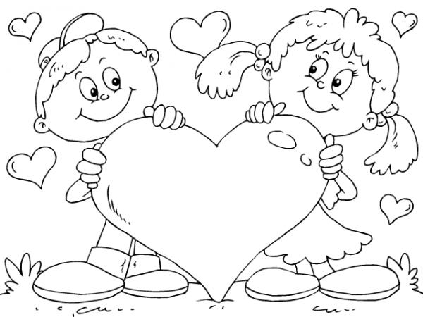 Dia De San Valentin Imagenes Para Colorear