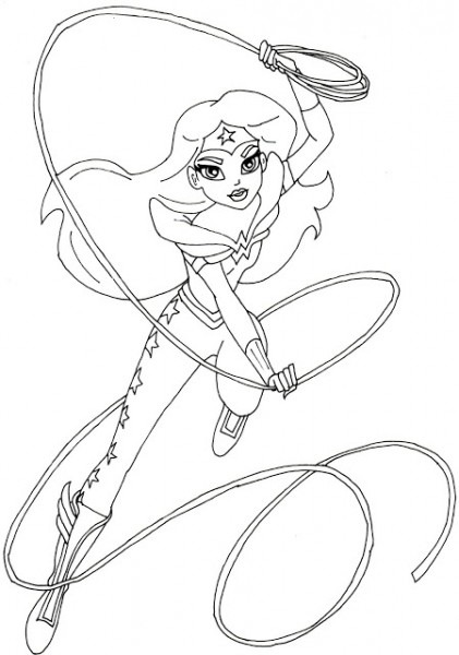Dc Superhero Girls Para Colorear