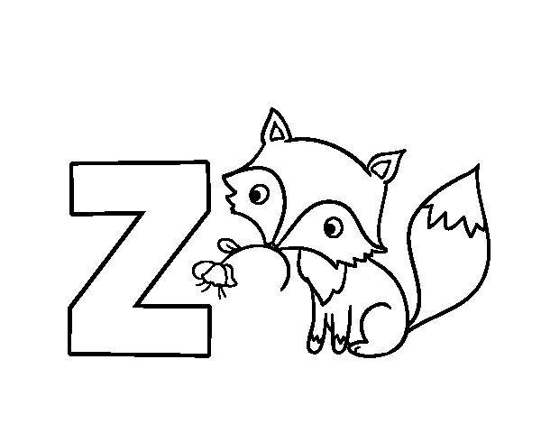 Dibujo De Z De Zorro Para Colorear