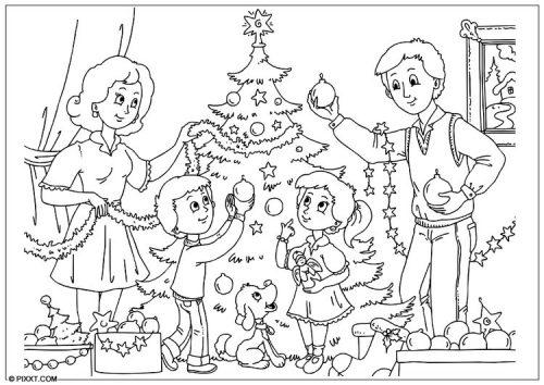 Mejores Dibujos Para Colorear De Navidad (+50 Imágenes