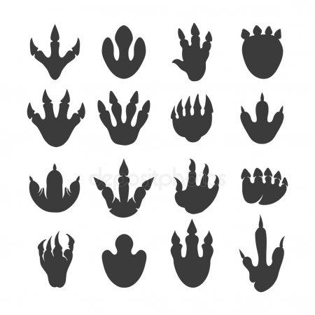 ᐈ Huellas De Dinosaurios Animadas Imágenes De Stock, Vector