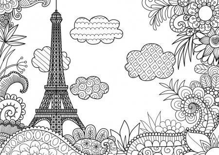 ᐈ Paisaje Para Colorear Imágenes De Stock, Dibujos Paisaje