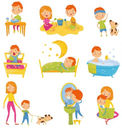ᐈ Rutinas Diarias Para Imprimir Imágenes De Stock, Dibujos Perro