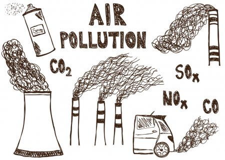 ᐈ Pollution Stock Illustrations, Royalty Free Earth Pollution