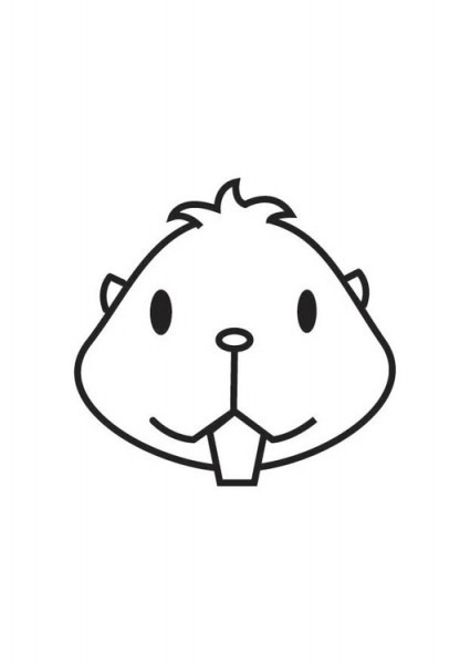 Dibujo Para Colorear Cabeza De Hamster