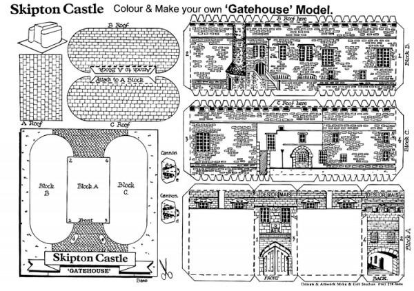 Dibujo Para Colorear Casa De Entrada Del Castillo Skipton